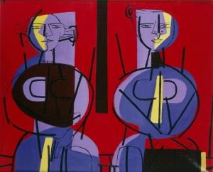 Luis Seoane Figuras estáticas, 1959. Col. Fundación Luis Seoane. Imaxe tirada de MARCO