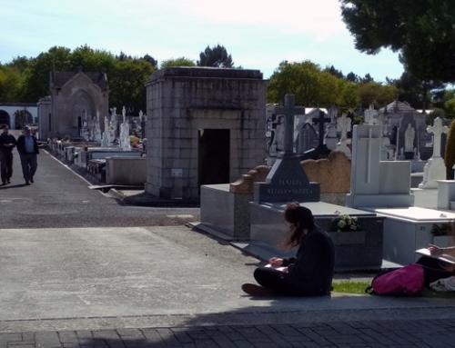 Unha tarde de debuxo artístico no cemiterio de San Froilán