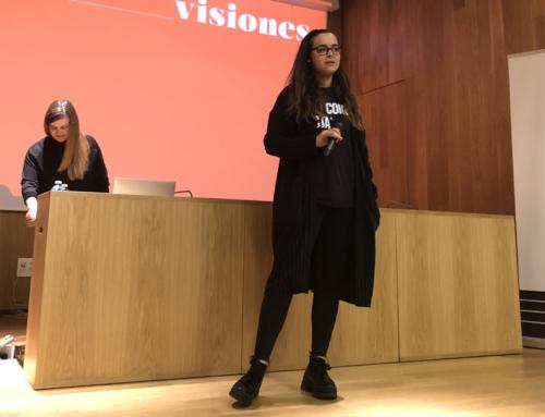 A nosa estudante María Lagarón Real, premio fin de carreira na modalidade de Deseño