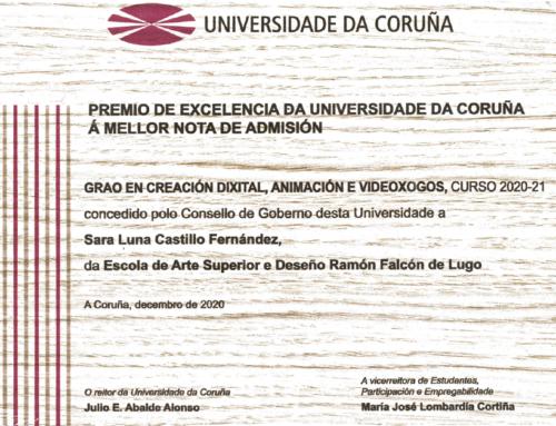 Nuestra exalumna Sara Luna Castillo, Premio de Excelencia de la UDC